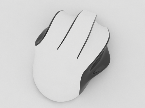 Wave ergonomic computer mouse