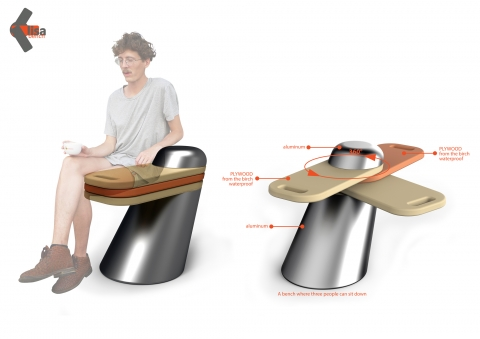 Elisa is a bench that is intended for parks and exterior use.