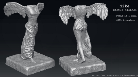 Nike of Samothrace / Statua Pobede Model za 3D print
