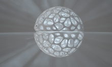 3D Voronoi skelet, kutija, sfera, lampa