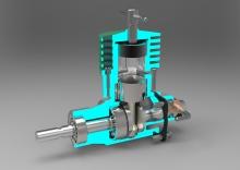 diesel motor za modele aviona na daljinsko upravljanje